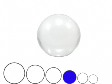 Jac Products Clear 75mm Acrylic Contact Ball